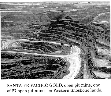 photo of open-pit goldmine