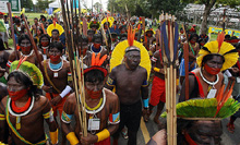 protest march in the Amazon