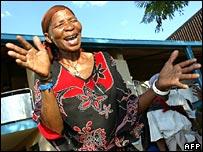 Bushmen celebrate